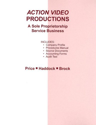 9780073196848: Action Video Productions Practice Set: A Sole Proprietorship Service Business