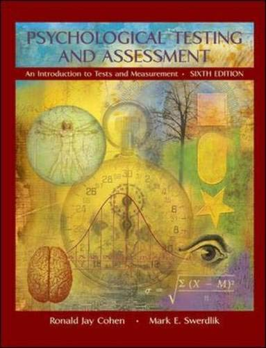 9780073199047: Psychological Testing and Assessment with Exercises Workbook