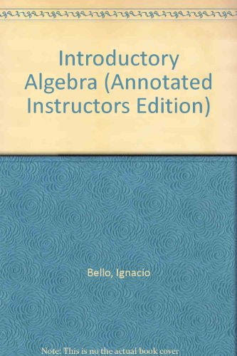 9780073199696: Introductory Algebra (Annotated Instructors Edition)