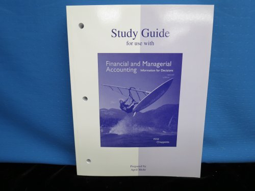 9780073201658: Study Guide to accompany Financial and Managerial Accounting