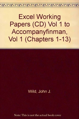 9780073201696: Excel Working Papers (CD) Vol 1 to accompanyFINMAN, Vol 1 (Chapters 1-13)