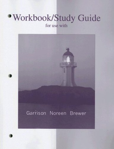 9780073203027: Workbook/Study Guide for use with Managerial Accounting