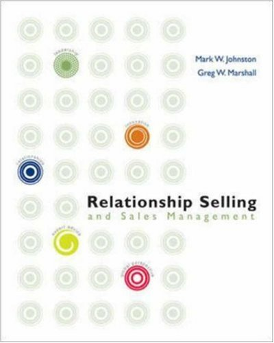 9780073203164: Relationship Selling and Sales Management w/ ACT! CD-ROM (McGraw-Hill/Irwin Series in Marketing)