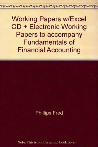 9780073203539: Working Papers w/Excel CD + Electronic Working Papers to accompany Fundamentals of Financial Accounting