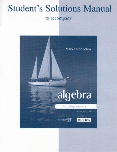 Mark Dugopolski Algebra College Students Abebooks