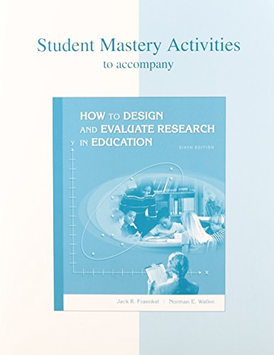 9780073207278: Student Research Companion CD and Student Mastery Activities Book for use with How to Design and Evaluate Research
