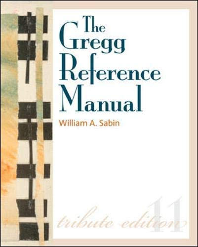 9780073207377: The Gregg Reference Manual