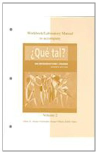 9780073207841: Workbook / Laboratory Manual Vol 2. to accompany Que tal?