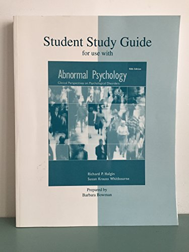 9780073208978: Student Study Guide for use with Abnormal Psychology