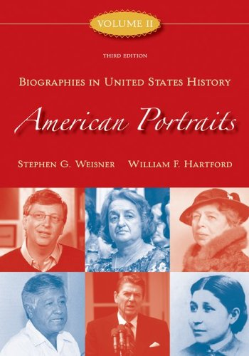 9780073210278: American Portraits: Biographies in United States History, Volume 2 (American Portrait Series)