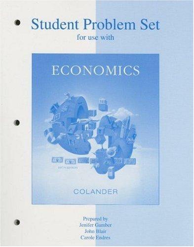 9780073213668: Student Problem Set t/a Economics