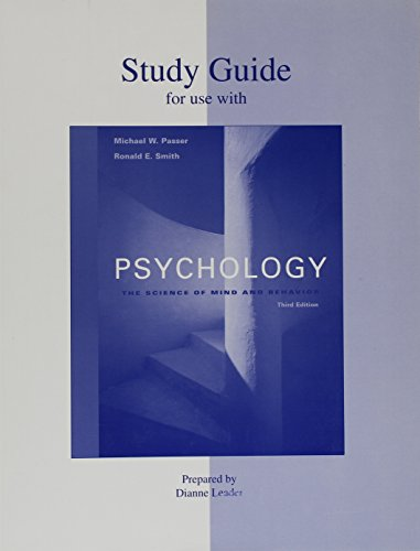 9780073214146: Study Guide for use with Psychology: The Science of Mind and Behavior