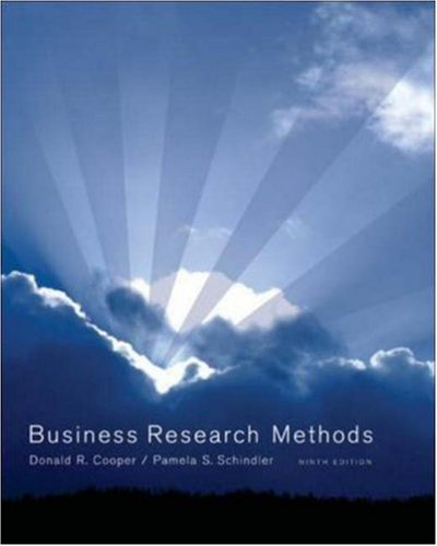 Business Research Methods with CD (McGraw-Hill/Irwin): Donald R Cooper,
