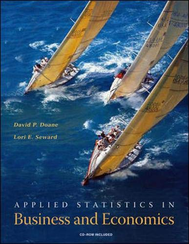 Applied Statistics in Business and Economics with: David P Doane,