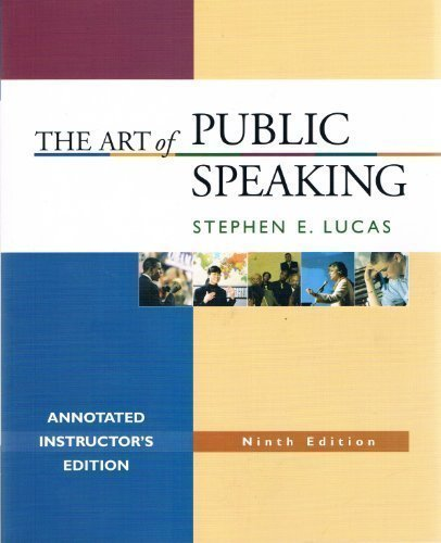 9780073216331: The Art of Public Speaking, Annotated Instructor's Edition