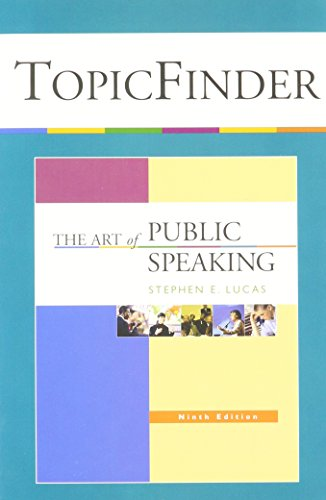 9780073216461: Art of Public Speaking - Topicfinder