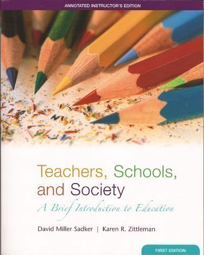 9780073216928: Teachers, Schools, and Society: A Brief Introduction to Education
