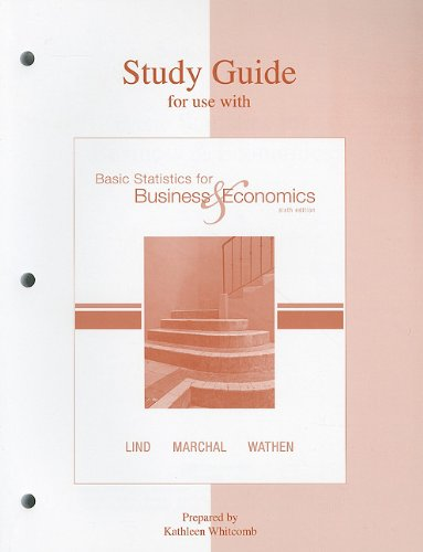 9780073217819: Study Guide to accompany Lind etal BasStat 6e