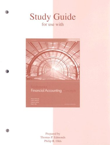9780073218335: Study Guide to accompany Fundamental Financial Accounting Concepts