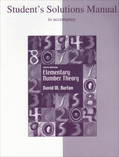 9780073219622: Student's Solutions Manual to accompany Elementary Number Theory