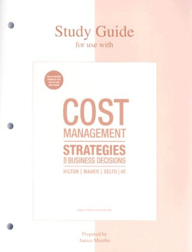 9780073221113: Cost Management: Strategies for Business Decisions