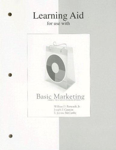 9780073222837: Learning Aid to accompany Basic Marketing