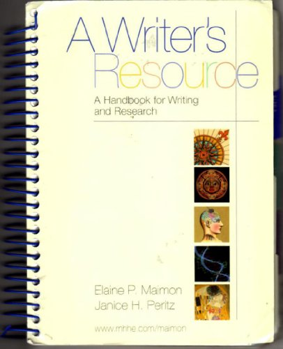 9780073225951: A Writer's Resource