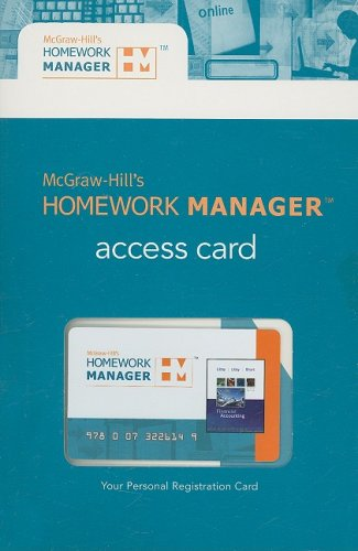 9780073226149: McGraw-Hill's Homework Manager Access Card to accompany Financial Accounting