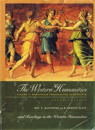 9780073226170: The Western Humanities Volume I: Beginnings Through the Renaissance (1)