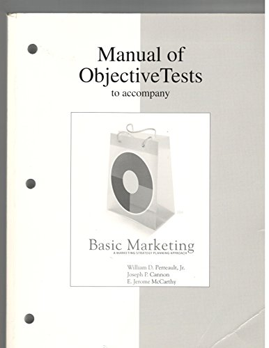 9780073227078: Manual of Tests to Accompany Basic Marketing 16th Edition