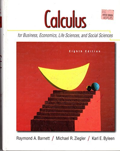 9780073227207: Calculus for Business, Economics, and the Social and Life Science - 8th (Eighth) Edition