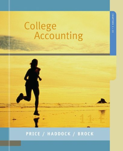 MP College Accounting 1-13 w/Home Depot Annual Report (Chapters 1-13) (0073229385) by John Price; M. David Haddock; Horace Brock