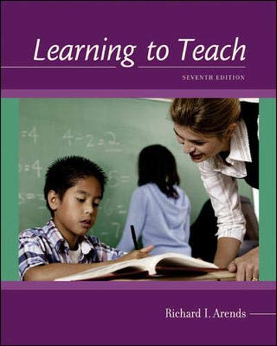 Learning to Teach, Textbook & Interactive CD-ROM: Richard I. Arends