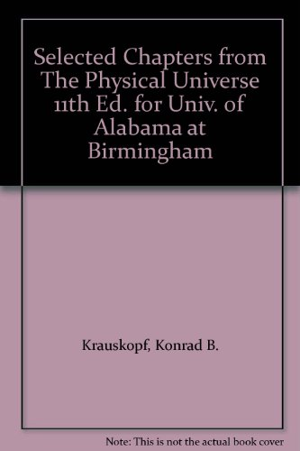 9780073230337: Selected Chapters from The Physical Universe 11th Ed. for Univ. of Alabama at Birmingham