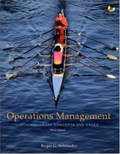 9780073230580: Operations Management: Contemporary Concepts and Cases with Student CD-ROM