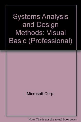 9780073243757: Systems Analysis and Design Methods: Visual Basic (Professional)