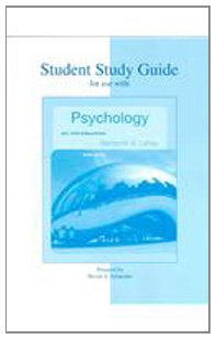 9780073251370: Student Study Guide to accompany Psychology: An Introduction