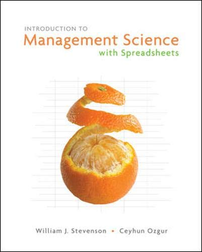 Introduction to Management Science with Spreadsheets and Student CD (9780073252902) by Stevenson,William; Ozgur,Ceyhun