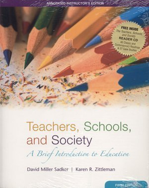 Teachers, Schools and Society: A Brief Introduction to Education with Bind-in Online Learning ...