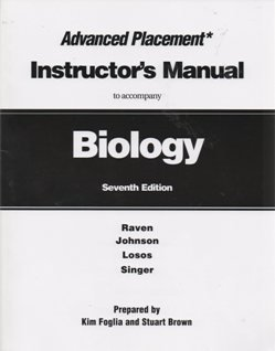 9780073256764: McGrawhill Biology 7th Edition Advance Placement Instructor's Manual