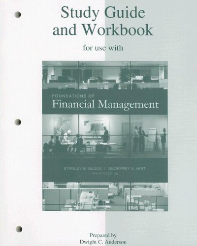 9780073257495: Study Guide and Workbook to accompany Foundations of Financial Management