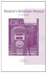 Solutions Manual to accompany Applied Calculus: For: Hoffmann, Laurence D./