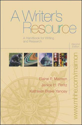 9780073258928: A Writer's Resource (comb) with Student Access to Catalyst 2.0