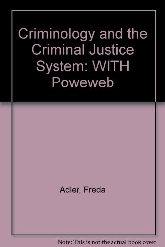 9780073258966: Criminology and the Criminal Justice System: WITH Poweweb