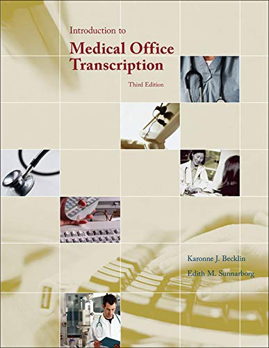 9780073259369: Introduction to Medical Office Transcription (P.S. Health Occupations)