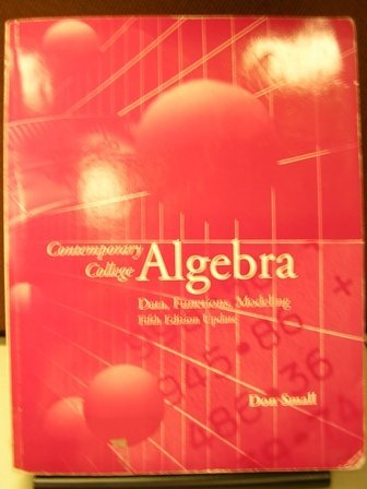 9780073259673: Contemporary College Algebra: Data, Functions, Modeling w/CD