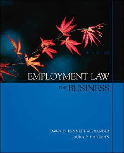 Employment Law for Business: Dawn Bennett-Alexander, Laura