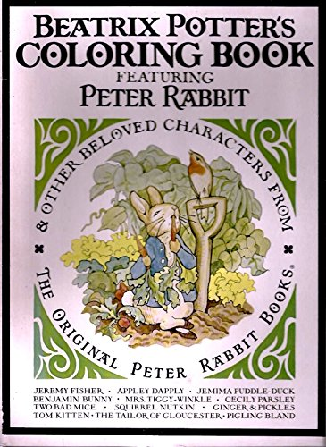 9780073261317: Beatrix Potter's Coloring Book Featuring Peter Rabbit & Other Beloved Characters From the Original Peter Rabbit Books