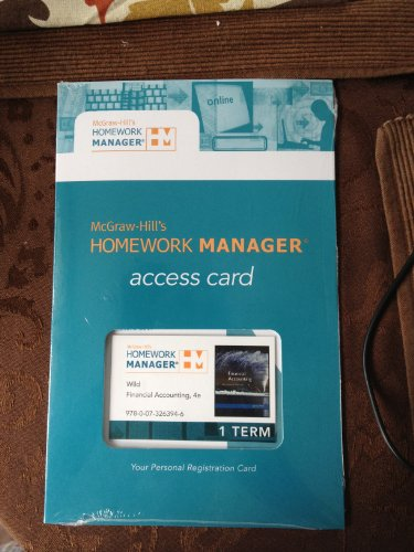 9780073263946: Homework Manager (Access Card) to accompany Wild, Financial Accounting