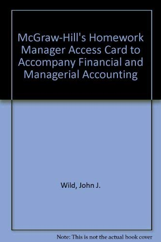 9780073264073: McGraw-Hill's Homework Manager Access Card to accompany FINMAN